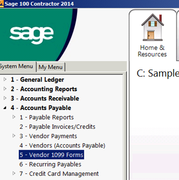 222bfd2ecdce05 Sage 100 - 1099 Forms Update – Ticket System   Knowledgebase -  1.888.794.9948 x 2